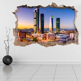 Vinilos 3D Madrid Corazón Financiero