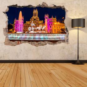 Vinilos 3D Madrid La Cibeles