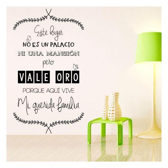 Vinilos decorativos frases este hogar for Vinilos pared frases