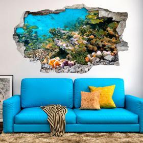 Vinilos 3D Animales Del Mar