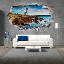 Vinilos 3D Faro En El Mar