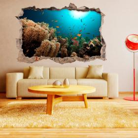 Vinilos 3D Paredes Peces Del Mar