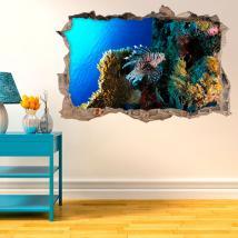 Vinilos 3D Vida En El Arrecife De Coral