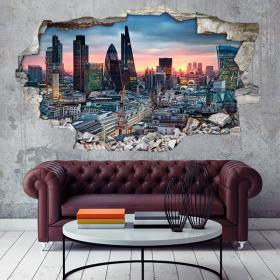 Vinilos 3D Ciudad De London