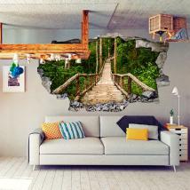 Vinilos 3D Escaleras Naturaleza