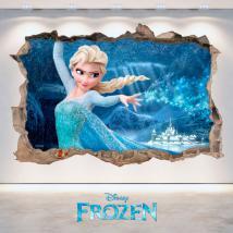 Vinilos 3D Agujero Pared Disney Frozen
