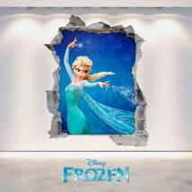 Vinilos Disney Frozen 3D Agujero Pared