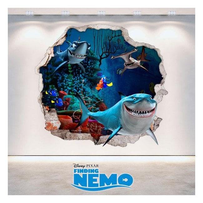 Vinilo 3D Disney Buscando A Nemo