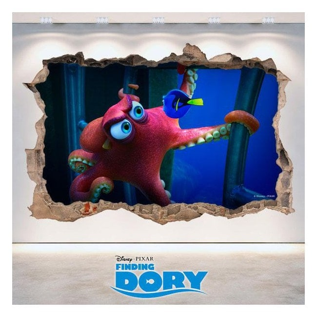 Vinilos 3D Disney Buscando A Dory Agujero Pared