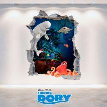 Vinilos Disney Agujero Pared 3D Buscando A Dory
