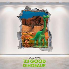 Vinilos Disney El Viaje De Arlo Agujero Pared 3D