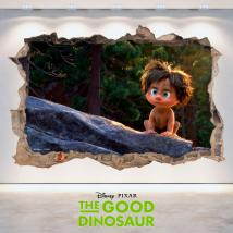 Vinilos Disney 3D Agujero Pared The Good Dinosaur