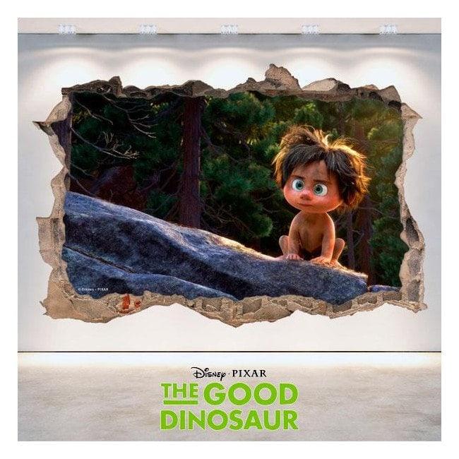 Vinilos Disney 3D Agujero Pared The Good Dinosaur