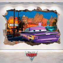 Vinilos Disney Cars 2 Agujero Pared 3D