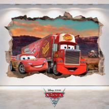 Pegatina 3D Disney Cars 2