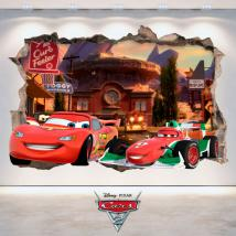 Pegatinas Disney 3D Cars 2 Agujero Pared
