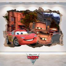 Adhesivos 3D Agujero Pared Disney Cars 2