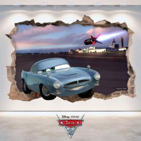 Vinilos Agujero Pared 3D Disney Cars 2