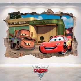 Vinilo Disney 3D Cars 2