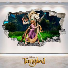 Adhesivos Disney Enredados Tangled 3D