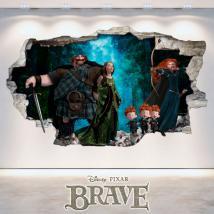 Vinilos Disney Brave Agujero Pared 3D