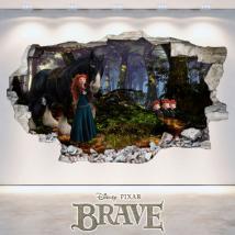 Vinilos Agujero Pared Disney Brave 3D