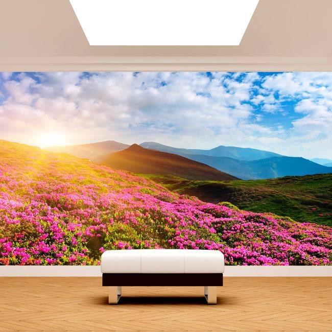 Fotomurales Flores En Las Montañas