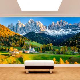 Fotomural Montañas Funes Italia