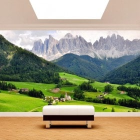 Fotomurales Montañas Funes Italia
