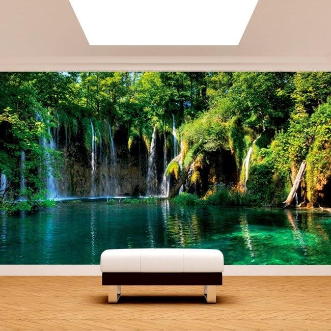 Fotomurales cascadas en la naturaleza for Fotomurales naturaleza
