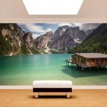 Fotomurales Lago Braies Italia