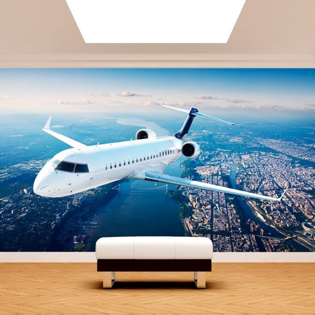 Fotomural Jet En El Cielo
