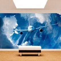 Fotomurales Avión En El Cielo