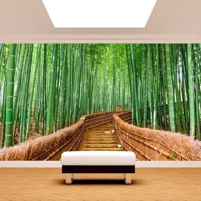 Fotomurales Bambú Escaleras