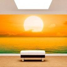 Fotomurales Puesta De Sol En Mar
