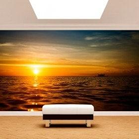 Fotomurales Puesta De Sol En El Mar