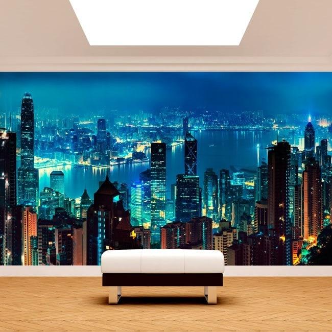 Fotomurales Hong Kong Ciudad