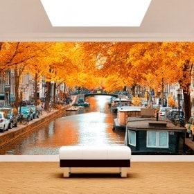 Fotomurales Amsterdam En Otoño