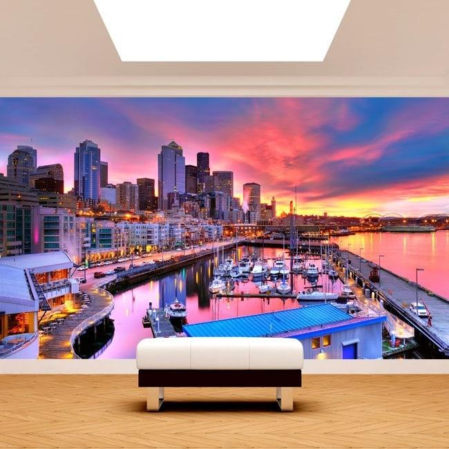 Fotomurales Puerto De Seattle