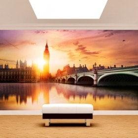 Fotomurales Big Ben London Atardecer