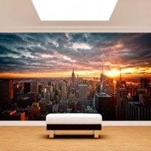 Fotomurales Manhattan Atardecer