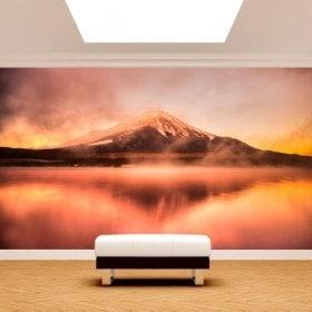 Fotomural Lago Kawaguchi Monte Fuji