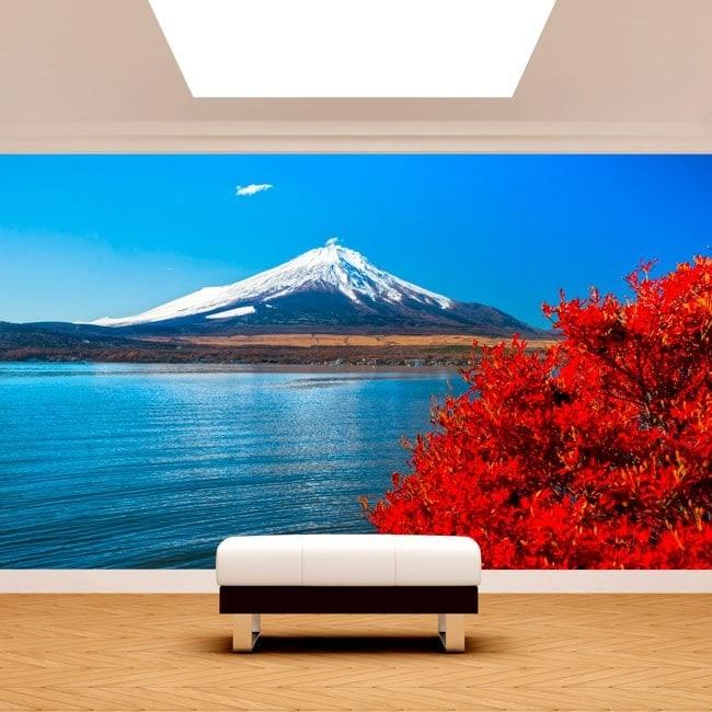 Fotomurales Lago Kawaguchi Monte Fuji