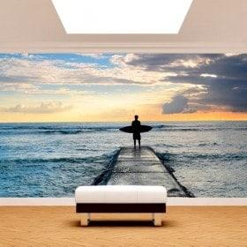 Fotomural Surf En La Playa