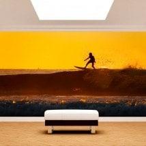 Fotomurales Surfista En La Ola