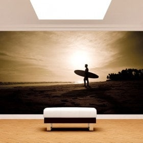Fotomural Surfista En La Playa