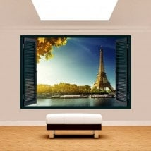 Ventana 3D Torre Eiffel París