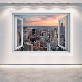 Ventanas 3D Nueva York Ciudad