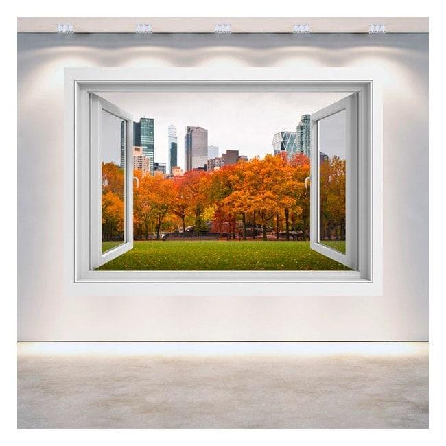 Ventanas 3D Paredes Central Park Nueva York