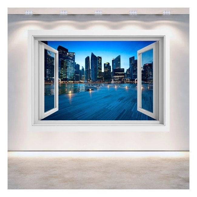 Ventanas 3D Singapur Ciudad